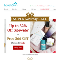 Up to 32% Off Super Saturday Sale Starts Now + $66 Masque Gift!