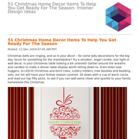 51 Christmas Home Decor Items To Help You Get Ready For The Season: Interior Design Ideas