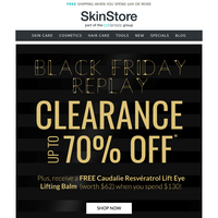 BLACK FRIDAY REPLAY CLEARANCE | Up to 70% Off