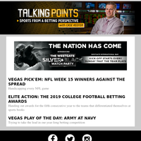This week in sports betting