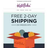 FREE 2-day shipping on orders $75+!