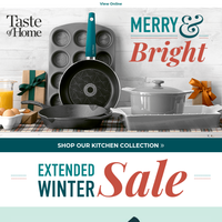 Rise & Shine! Don't miss the extended sale.