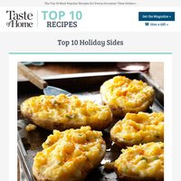 Top 10 Holiday Sides