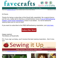 Fwd: 23 Christmas Patterns for Fabric Hoarders