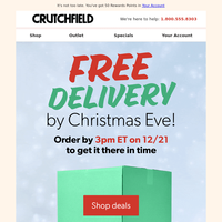 Free delivery by Christmas Eve - order by 3pm ET on 12/21