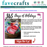 Fwd: Daily Holiday Projects and Inspiration