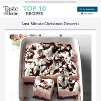 Last-Minute Christmas Desserts