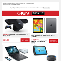 Holiday Deals: PlayStation 4 Back Button Is Up for Preorder, iPad Hits Black Friday Price