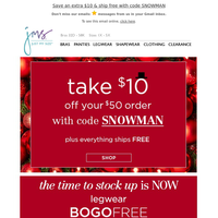 ⛄ BOGO legwear, shape & panty deals + $10 off