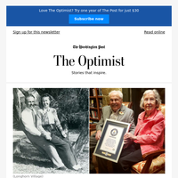 The Optimist: She's 105. He's 106. The world's oldest living couple celebrates 80 years of marriage.