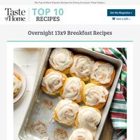 Overnight 13x9 Breakfast Recipes