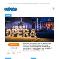 1-Hour Dubai Opera Tour/Novotel Christmas Eve BBQ/Crowne Plaza Yule Log/Christmas Creek Cruise/NYE Canal Cruise Dinner/Christmas @Pullman Creek and so much more