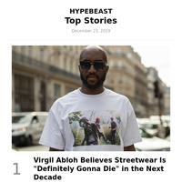 Virgil Abloh Believes Streetwear Is \