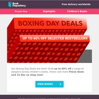 Boxing Day Deals - Up To 60% Off