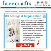 Free Projects and Inspiration! Storage & Organization Solutions