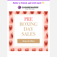 JUST LANDED: Early Boxing Day sales from Nike, Groupon, Stayz & more