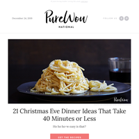 21 Christmas Eve dinner ideas that take under an hour