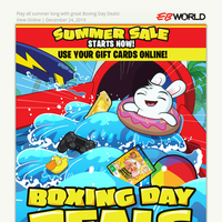 Boxing Day Deals Start Now!