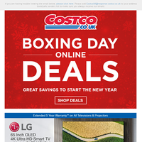 Boxing Day Has Started Online!