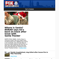 Where is Santa? NORAD says he's back on track af ter issue with Santa Tracker