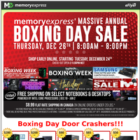 Memory Express Annual Boxing Day Sale (Dec 26, 2019)