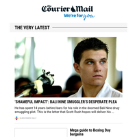 Drug mule's plea | Boxing Day guide | Paine's plan