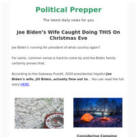 Joe Biden's Wife Caught Doing THIS On Christmas Eve