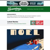 Hemmings Daily: What would Santa drive?