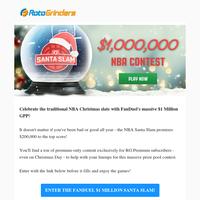 FanDuel's $1 Million Santa Slam is here for the Christmas Day slate!