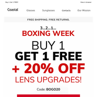 Ding ding! Boxing Day Deals: 20% off lens upgrades and…