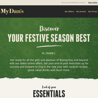 Hi {NAME} - The festive season continues... Pick up your end of year essentials!