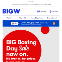 BIG Boxing Day SALE!