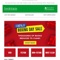 Boxing Day Sale: Up to 85% off RRP!