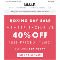 Boxing Day Sale: 40-50% off storewide!