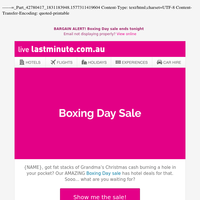 BOXING 🎁 DAY 🎁 SALE 🎁 ON NOW!