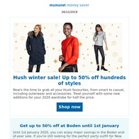Boxing Day Special: Up to 50% off at Hush plus great savings with Clarks, Simba, Liz Earle and more