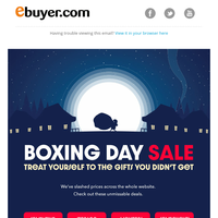 BOXING DAY SALE - Check out the top deals!