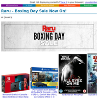 Raru - Boxing Day Sale Now On!