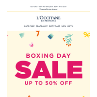 Up to 50% Off deals: Boxing Day Sale now ON