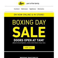 Boxing Day Sale! – On Now!