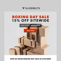 Boxing Day Sale 🥊 15% off sitewide!
