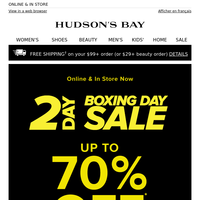 ★ Your Boxing Day Destination: SAVE BIG Online & In Store!
