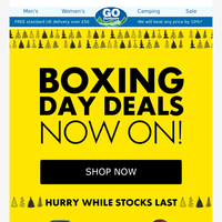 Boxing Day Deals... Our Top Picks. Don't Miss Out!