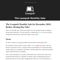 The Leanpub Boxing Day 2019 Sale!