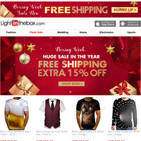 Get freeshipping coupon & dress up to open your boxing surprise!