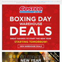 Preview Warehouse Boxing Day Deals Starting Tomorrow!
