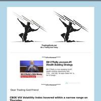 Friend  VIX Daily Update: Volatility Flat on Boxing Day Tradinggods.net