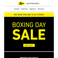Boxing Day Sale - Online & In Store!
