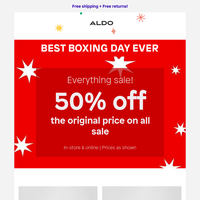 Don't miss out: Our BEST EVER Boxing Day SALE!