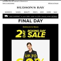 FINAL DAY: Women's Boxing Day deals—shop 'em quick!